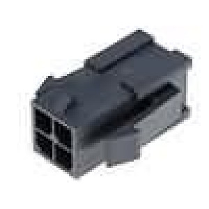Zástrčka kabel-pl.spoj vidlice 3mm 4 PIN řada Micro-Fit 3.0