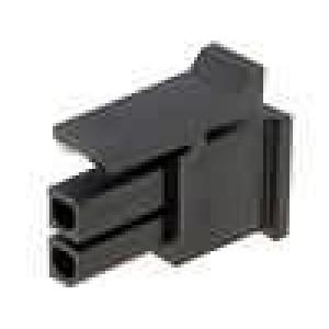 Zástrčka kabel-pl.spoj zásuvka 3mm 2PIN bez kontaktů 5A