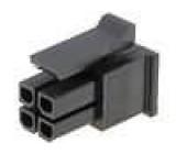 Zástrčka kabel-pl.spoj zásuvka 3mm 4 PIN bez kontaktů 5A