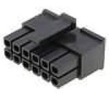 Zástrčka kabel-pl.spoj zásuvka 3mm 12PIN bez kontaktů 5A