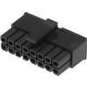 Zástrčka kabel-pl.spoj zásuvka 3mm 14 PIN bez kontaktů 5A