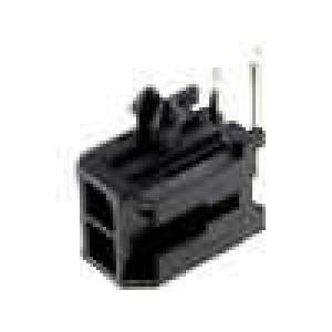 Zásuvka kabel-pl.spoj vidlice 3mm 2PIN pocínovaný 5A 250V