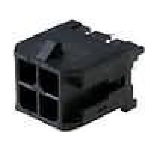 Zásuvka kabel-pl.spoj vidlice 3mm 4 PIN pocínovaný 5A 250V