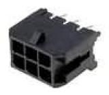 Zásuvka kabel-pl.spoj vidlice 3mm 6 PINpocínovaný 5A 250V