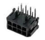 Zásuvka kabel-pl.spoj vidlice 3mm 8 PIN pocínovaný 5A 250V