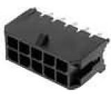 Zásuvka kabel-pl.spoj vidlice 3mm 10 PIN pocínovaný 5A 250V