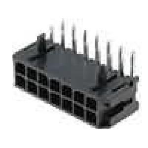 Zásuvka kabel-pl.spoj vidlice 3mm 14 PIN pocínovaný 5A 250V