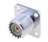 Zásuvka UHF (PL259) zásuvka přímý pájení do panelu stříbřený