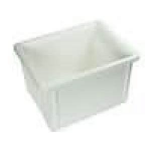 Zásobník - přepravní 400x300x250mm bílá přírodní polypropylén