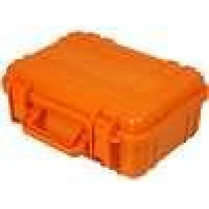 Zásobník - přepravní kufřík 260x180x100mm oranžová ABS
