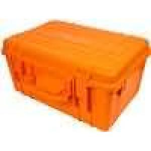 Zásobník - přepravní kufřík 580x400x280mm oranžová ABS