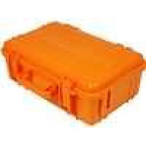 Zásobník - přepravní kufřík 330x210x120mm oranžová ABS