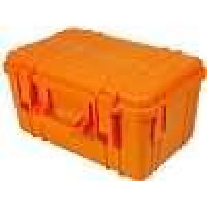 Zásobník - přepravní kufřík 330x210x170mm oranžová ABS