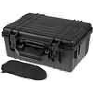 Zásobník - přepravní kufřík 380x260x160mm černá ABS