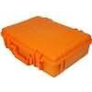 Zásobník - přepravní kufřík 420x300x120mm oranžová ABS