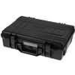 Zásobník - přepravní kufřík 420x300x120mm černá ABS