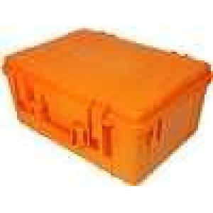 Zásobník - přepravní kufřík 420x300x190mm oranžová ABS
