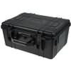Zásobník - přepravní kufřík 420x300x190mm černá ABS