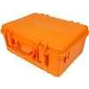 Zásobník - přepravní kufřík 470x350x200mm oranžová ABS