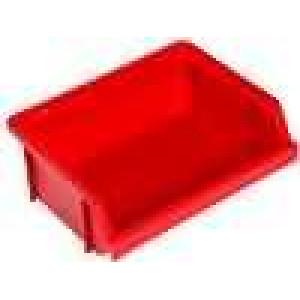 Zásobník dílenský 120x90x40mm červená polypropylén