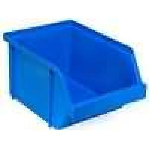 Zásobník dílenský 120x150x85mm modrá polypropylén
