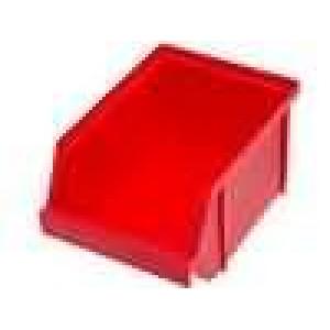 Zásobník dílenský 120x150x85mm červená polypropylén