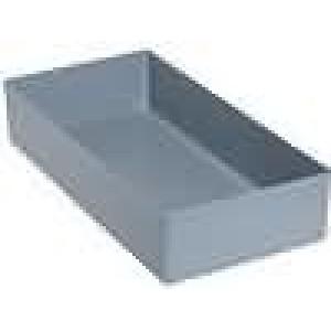 Zásobník - do krabiček 108x216x45mm šedá polystyrén
