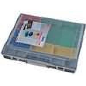 Zásobník - krabička se zásobníky 370x295x55mm černá