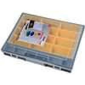 Zásobník - krabička se zásobníky 370x290x55mm černá
