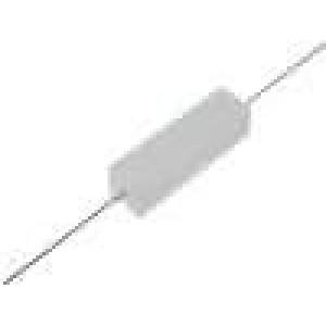Rezistor drátový tmelený THT 75R 7W ±5% 9,5x9,5x35mm