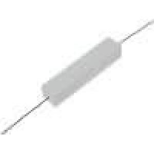 Rezistor drátový tmelený THT 27R 10W ±5% 48x9,5x9,5mm