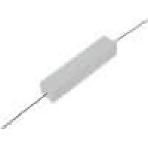 Rezistor drátový tmelený THT 390mR 10W ±5% 48x9,5x9,5mm