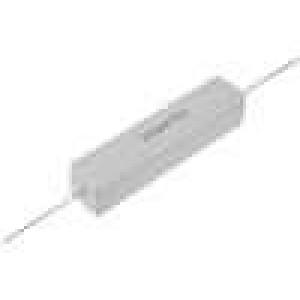 Rezistor drátový tmelený THT 100R 20W ±5% 13x13x60mm