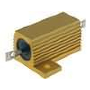 Rezistor drátový s radiátorem přišroubováním 1R 25W ±5%