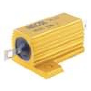 Rezistor drátový s radiátorem přišroubováním 27R 25W ±5%
