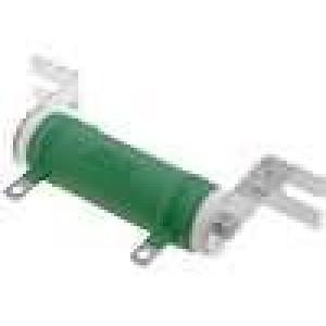 Rezistor drátový 100R 25W ±5% Ø22x60mm 300ppm/°C konektor očka