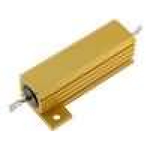 Rezistor drátový s radiátorem přišroubováním 12R 50W ±5%