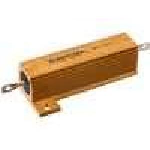 Rezistor drátový s radiátorem přišroubováním 100mR 50W ±5%