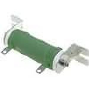 Rezistor drátový 10R 50W ±5% Ø31x75mm 400ppm/°C konektor očka