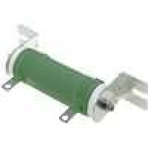 Rezistor drátový 22R 50W ±5% Ø31x75mm 300ppm/°C konektor očka