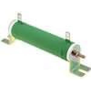 Rezistor drátový 10R 80W ±5% Ø28x121mm 200ppm/°C konektor očka