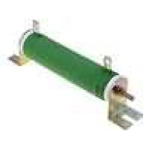 Rezistor drátový 1R 80W ±5% Ø28x121mm 200ppm/°C konektor očka