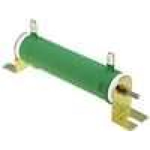 Rezistor drátový 2,2R 80W ±5% Ø28x121mm 200ppm/°C konektor očka