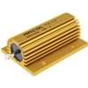 Rezistor drátový s radiátorem přišroubováním 100mR 100W ±5%