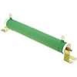 Rezistor drátový 10R 150W ±5% Ø28x206mm 200ppm/°C konektor očka