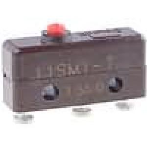 Mikrospínač bez páčky SPDT 5A/250VAC OFF-(ON) 1-polohové
