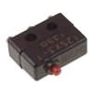 Mikrospínač bez páčky SPDT 1A/125VAC OFF-(ON) 1-polohové