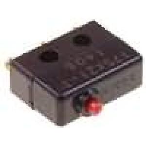 Mikrospínač bez páčky SPDT 5A/230VAC OFF-(ON) 1-polohové