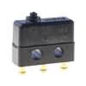 Mikrospínač bez páčky SPDT 7A/250VAC OFF-(ON) 1-polohové
