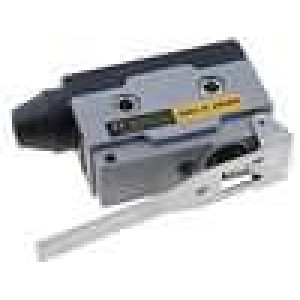 Mikrospínač s páčkou SPDT 10A/250VAC ON-(ON) 1-polohové IP40